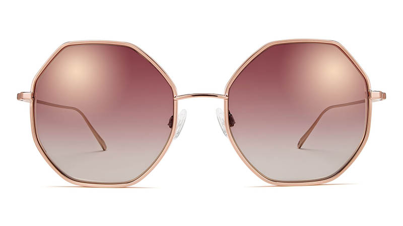 Warby Parker Agnes Sunglasses in Rose Gold $195