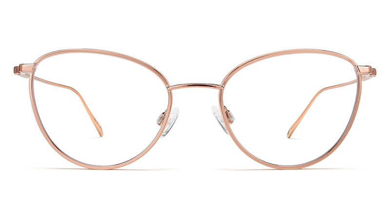 Warby Parker Elise Glasses in Rose Gold with Mojave Mauve $195