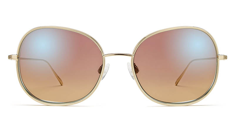Warby Parker Marlo Sunglasses in Polished Gold with Pink Gradient Lenses $195