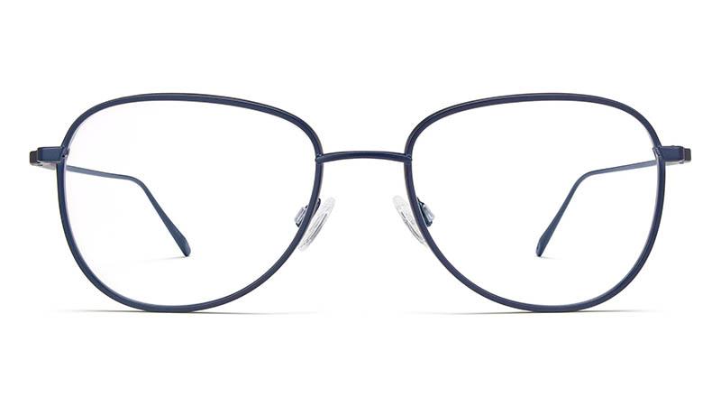 Warby Parker Waldman Glasses in Brushed Navy with Jet Black Matte $195