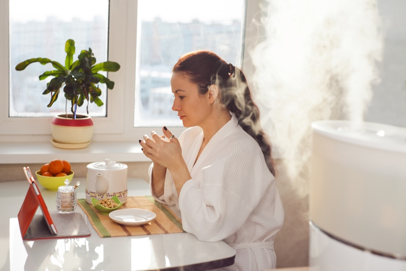Woman Table Humidifier