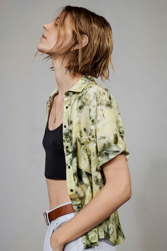 Freja Beha Erichsen models grunge inspired looks for Zara