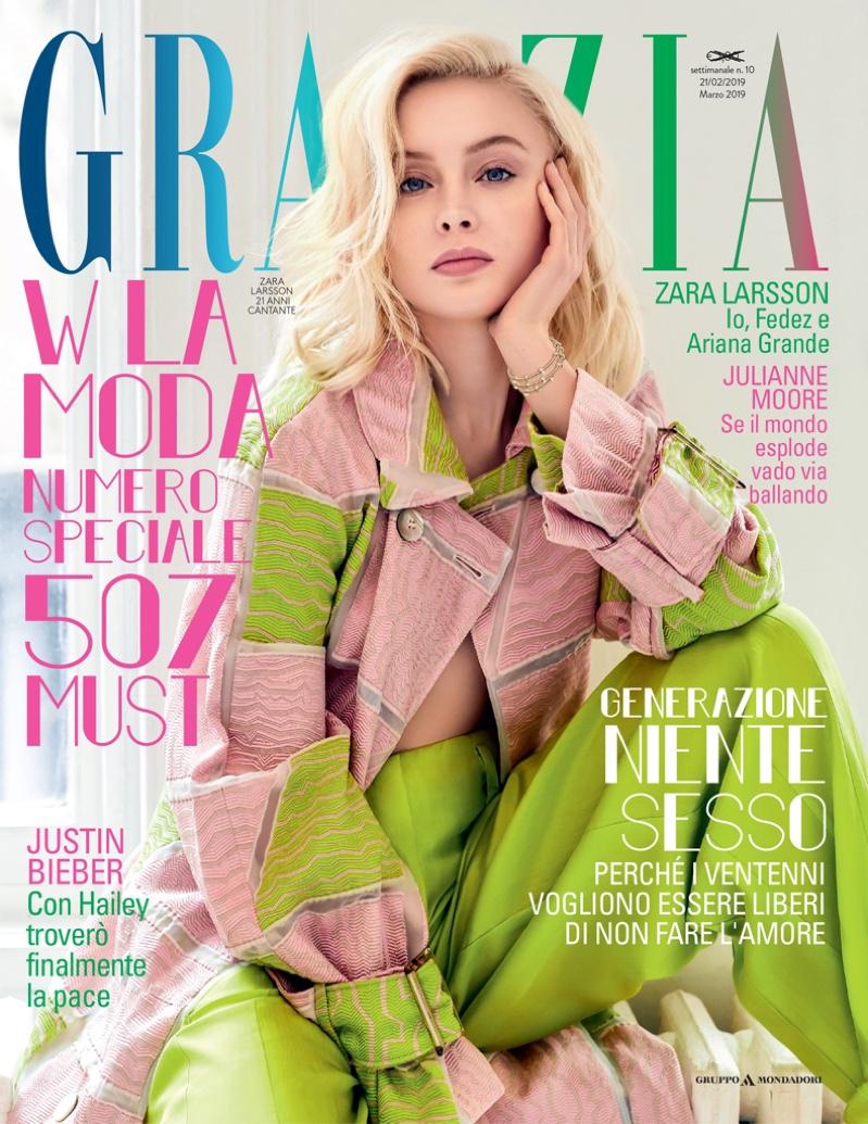 Zara Larsson on Grazia Italy February 21st, 2019 Cover