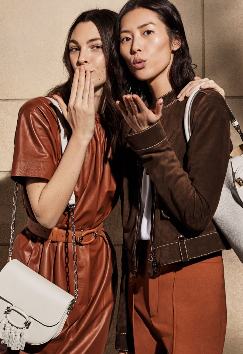 BEHIND THE SCENES: Vittoria Ceretti & Liu Wen on set of Tod's spring 2019 shoot