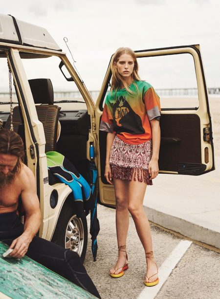 Abby Champion Takes On Surf Trends for Sunday Times Style