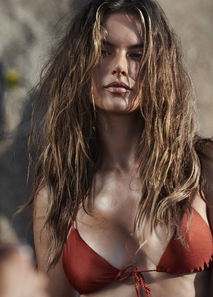 Alessandra Ambrosio poses in bikini style from debut GAL Floripa collection