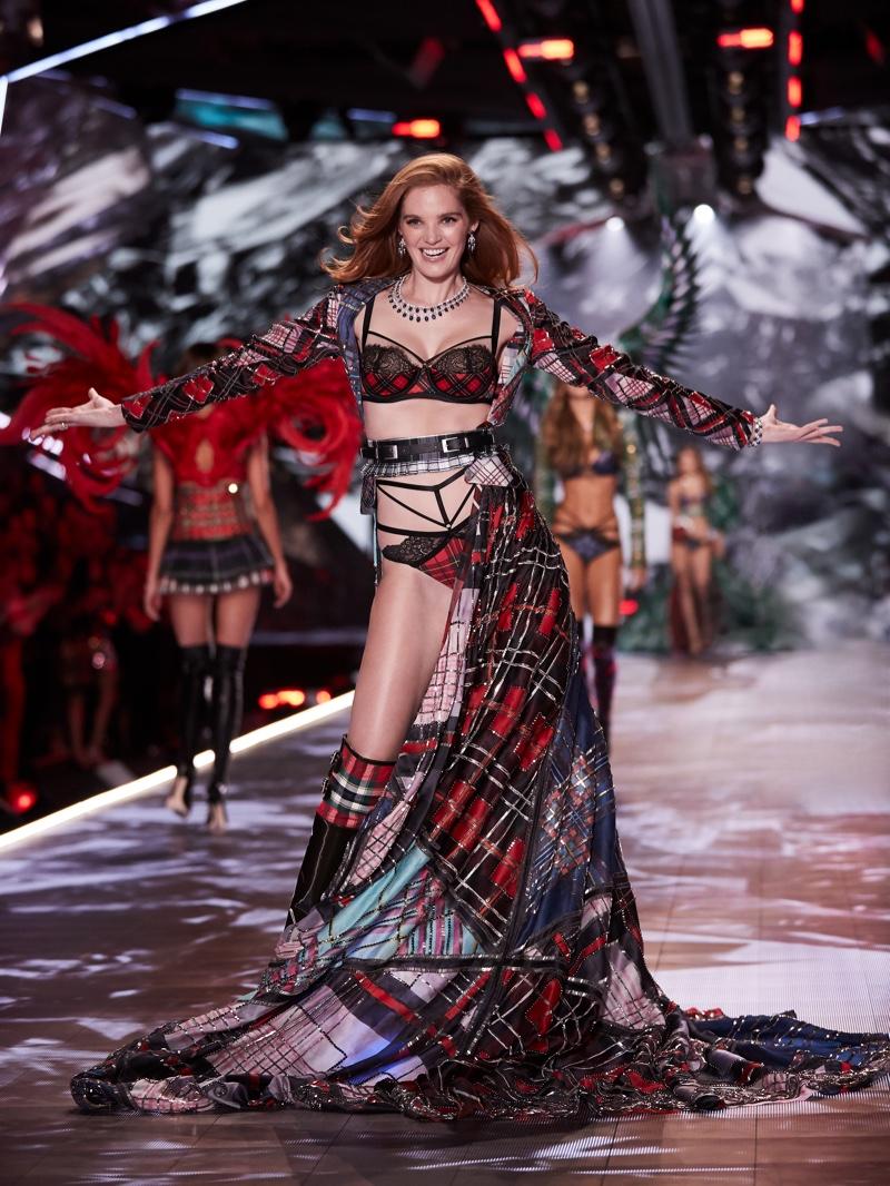 Alexina Graham walks the runway for Victoria's Secret Fashion Show 2018 in New York. Photo courtesy Victoria's Secret