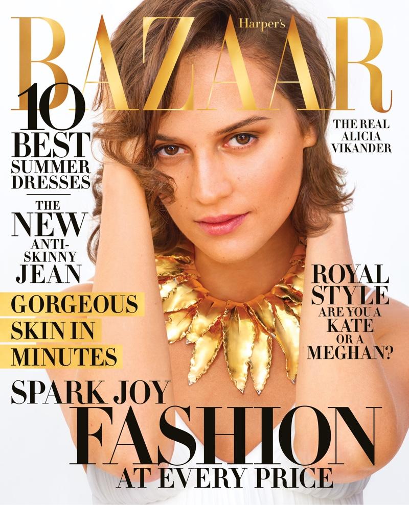 Alicia Vikander on Harper's Bazaar US April 2019 Cover