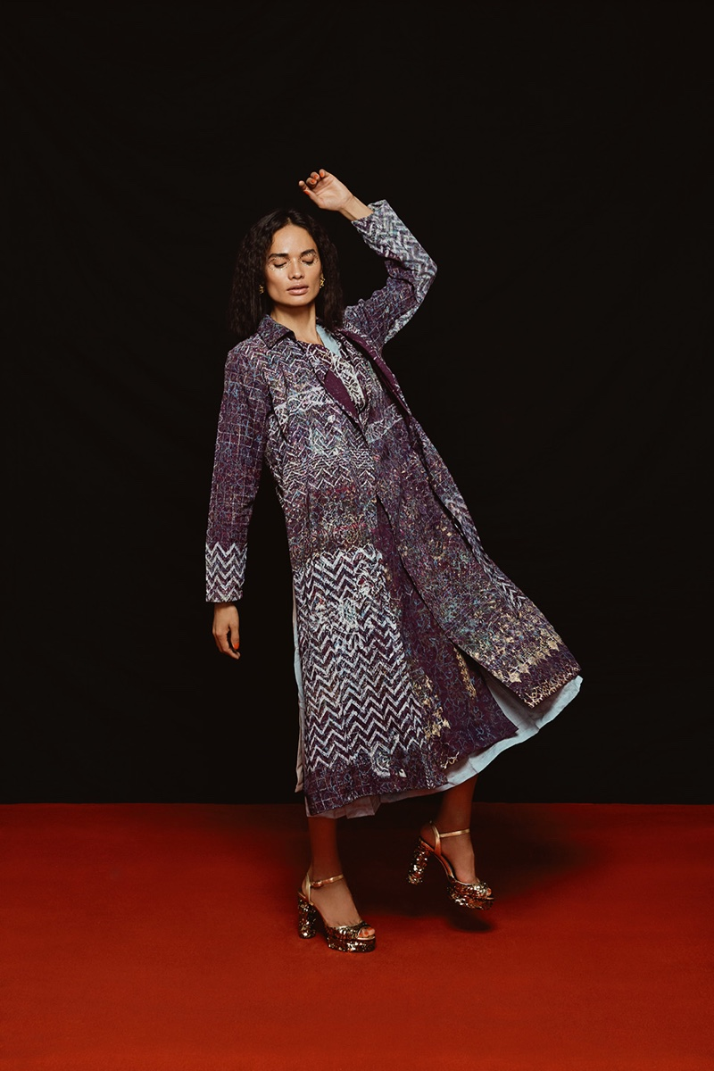 Anjali Lama Poses in Homegrown Styles for Grazia India