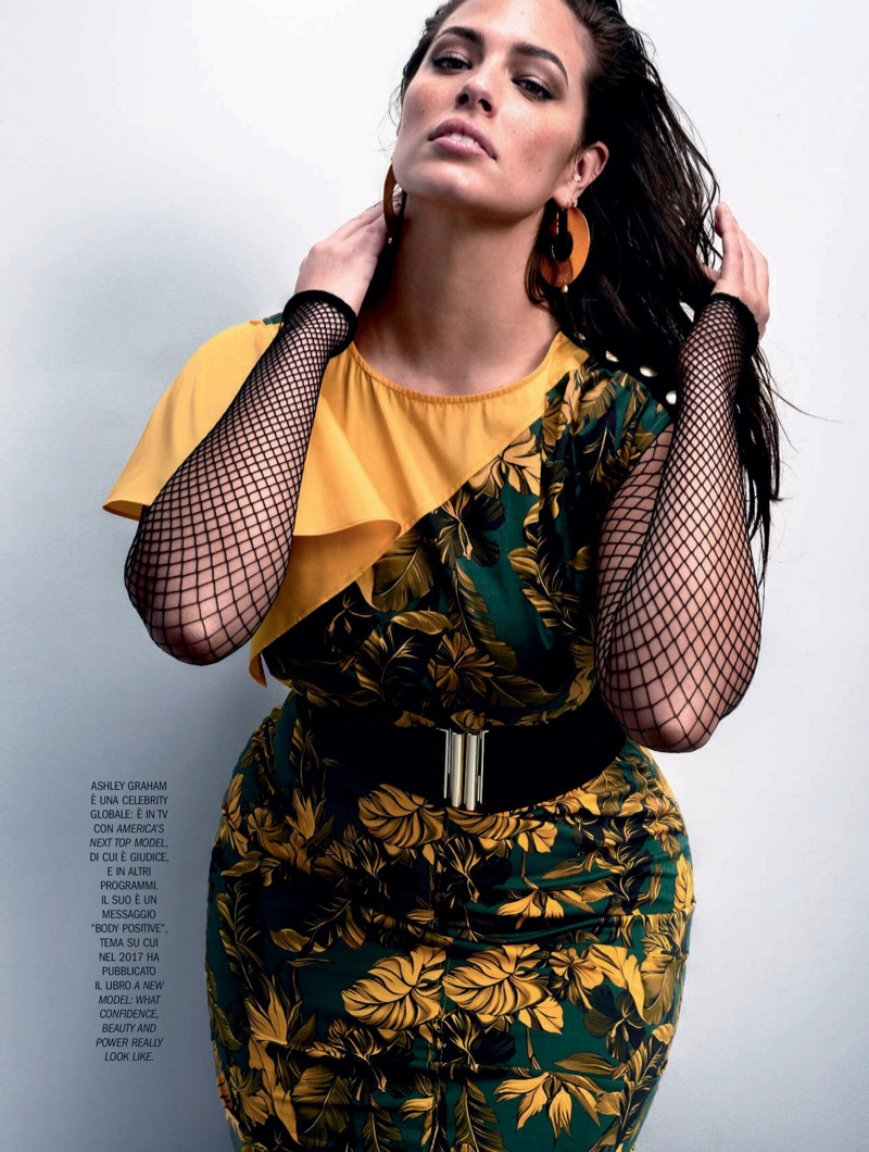 Ashley Graham Poses in Bold Styles for Marie Claire Italy