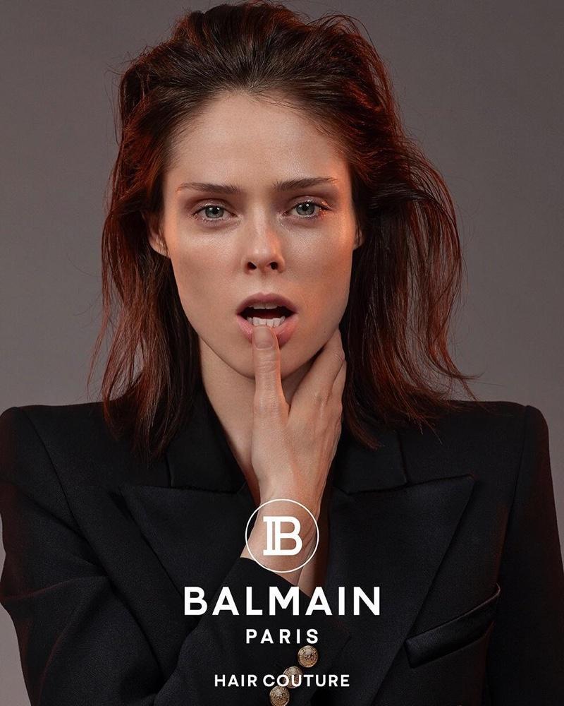 Coco Rocha stars in Balmain Hair Couture spring-summer 2019 campaign