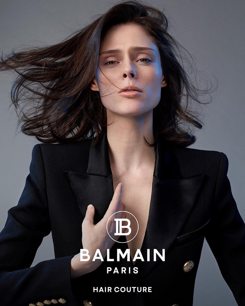 Balmain Hair Couture enlists Coco Rocha for spring-summer 2019 campaign