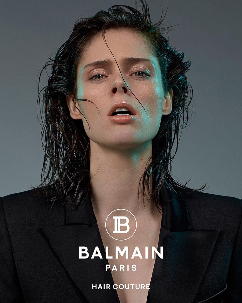 An image from the Balmain Hair Couture spring 2019 advertising campaign