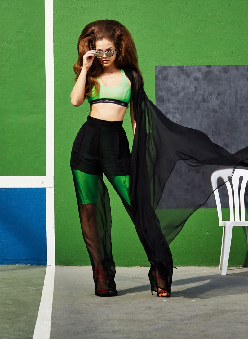 Barbara Palvin Models Colorful Beach Styles for V Magazine