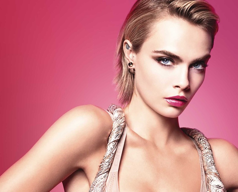 Cara Delevingne Dior Addict Stellar Shine Campaign Fashion Gone