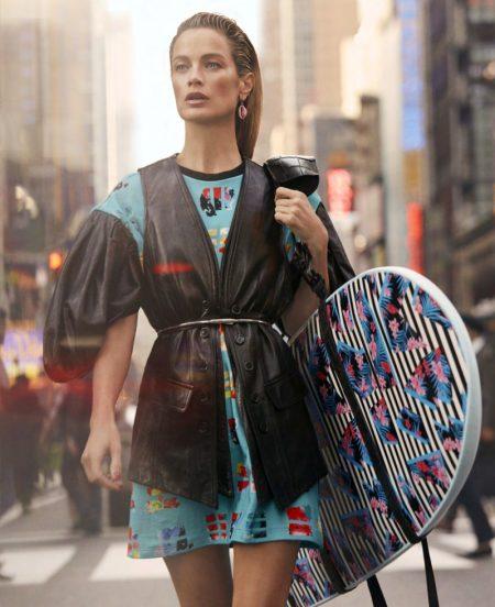 Carolyn Murphy Takes On Surf Fashion for Harper's Bazaar