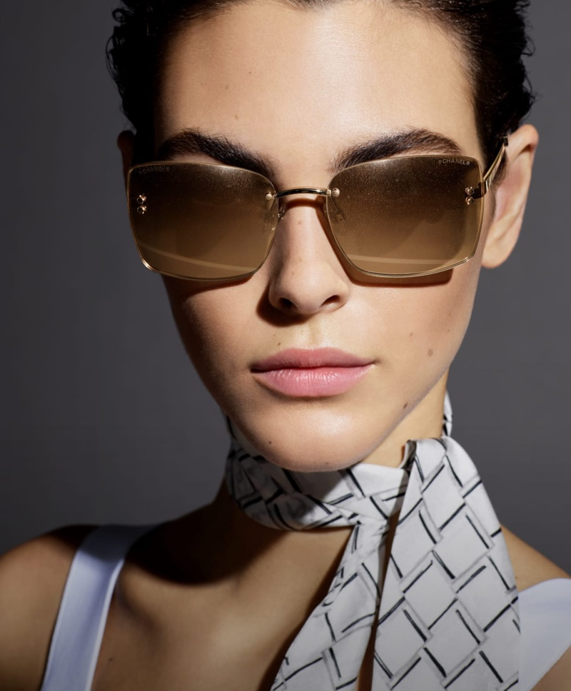 Vittoria Ceretti appears in Chanel Eyewear spring-summer 2019 campaign