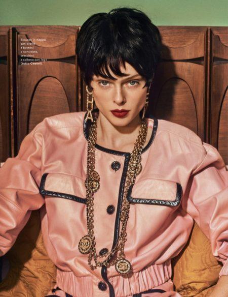 Coco Rocha Models Retro Style for Grazia Italy