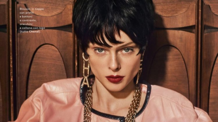 Coco Rocha Models Retro Style for Grazia Italy