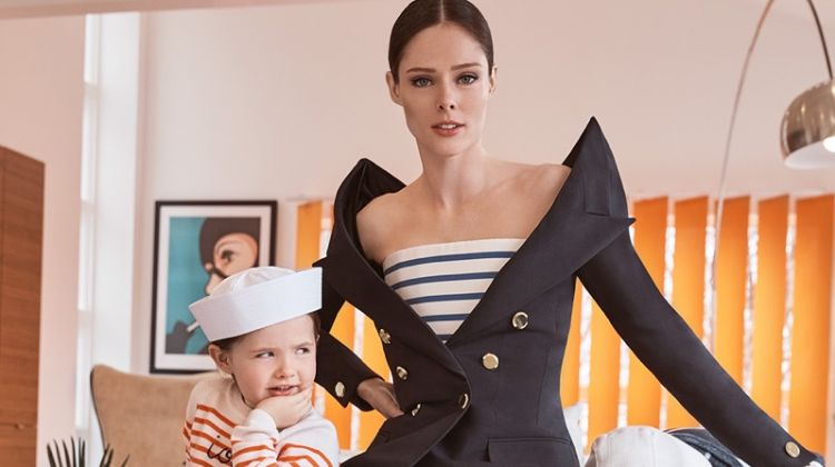 Coco Rocha & Daughter Ioni Pose for ELLE Russia