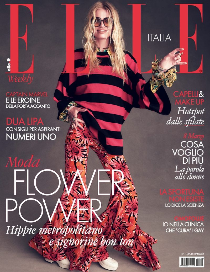 Daphne Groeneveld Channels Flower Power for ELLE Italy