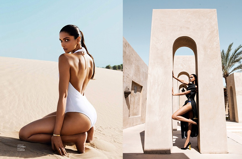 Actress Deepika Padukone shows off her curves for the fashion shoot