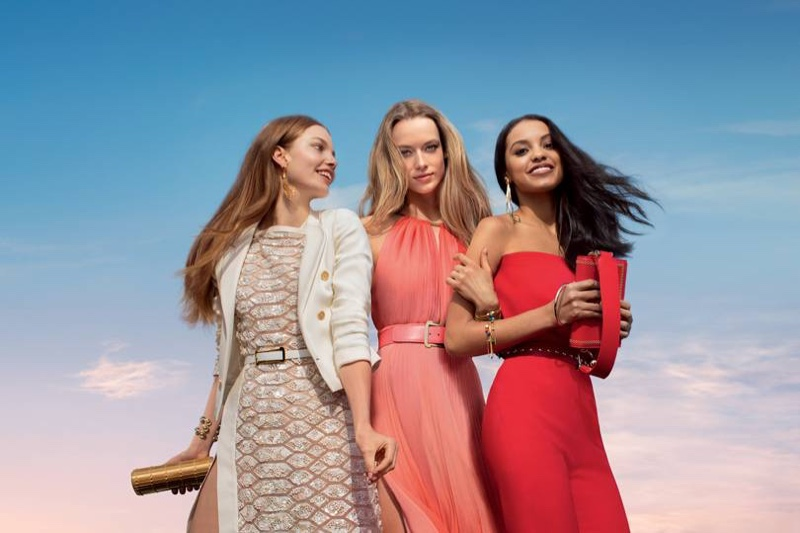 Kristine Froseth, Hannah Ferguson and Jasmine Daniels star in Elie Saab Girl of Now Forever fragrance campaign