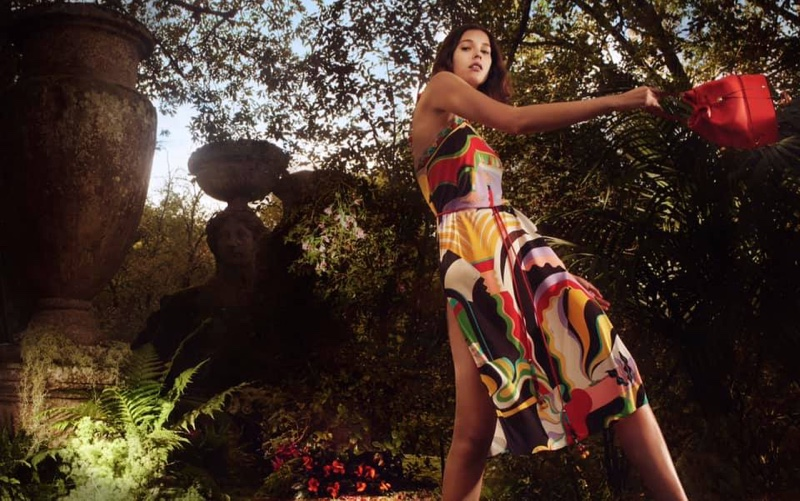 An image from the Emilio Pucci spring 2019 advertising campaign