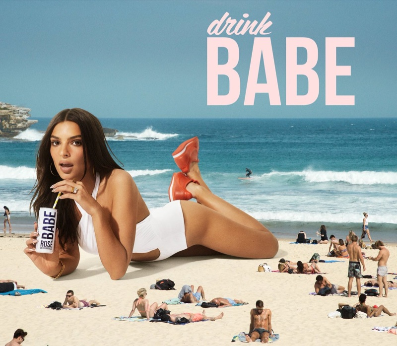 Model Emily Ratajkowski appears in Drink Babe campaign