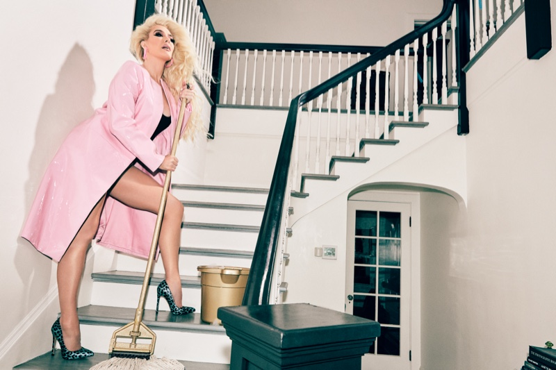 Singer Erika Jayne poses for Shoedazzle collaboration campaign