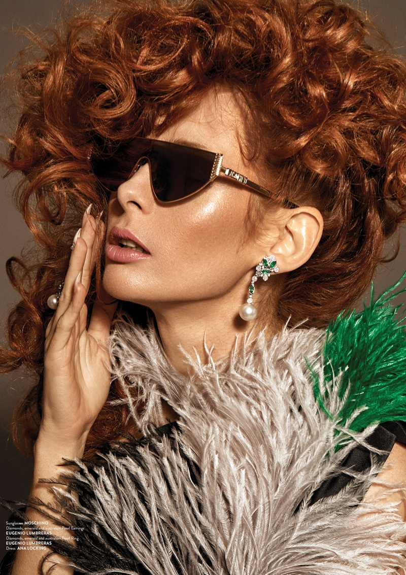 Eva Álvarez Channels 80's Style for Grazia Pakistan