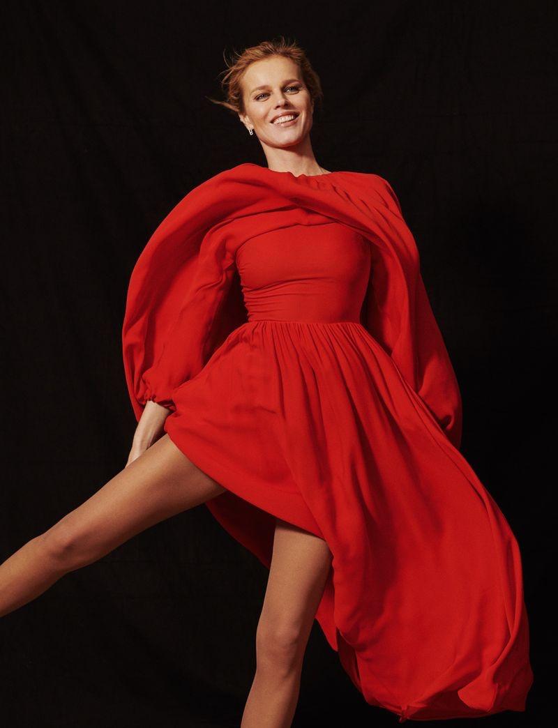 Eva Herzigova Shows Off Her Moves for Harper's Bazaar Russia