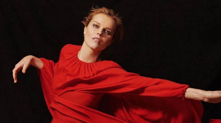 Eva Herzigova Shows Off Her Moves for Harper's Bazaar Russia
