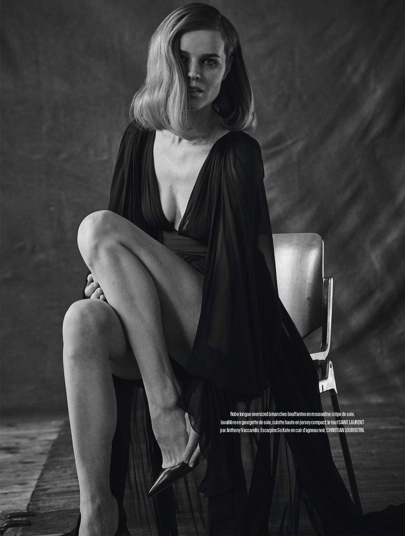 Eva Herzigova Stuns in Black & White for L'Express Styles
