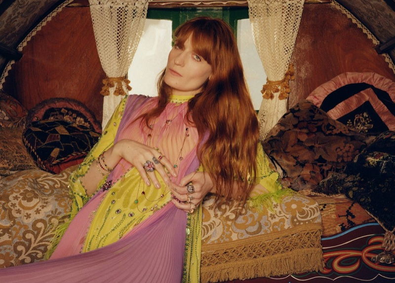 Florence Welch Shines in Gucci Jewelry Campaign