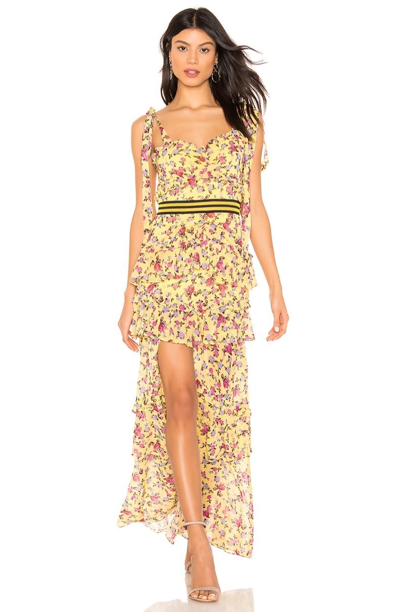 For Love & Lemons Maison Maxi Dress $308