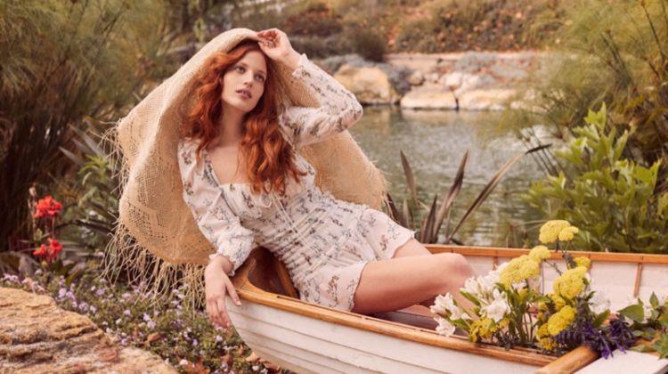 Julia Banas Enchants in For Love & Lemons Spring '19 Dresses