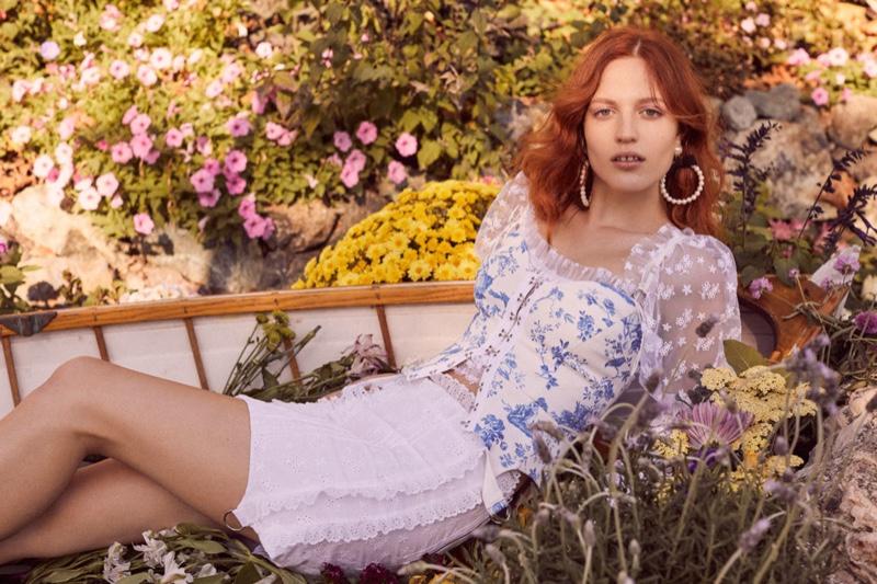 Julia Banas fronts For Love & Lemons spring 2019 lookbook
