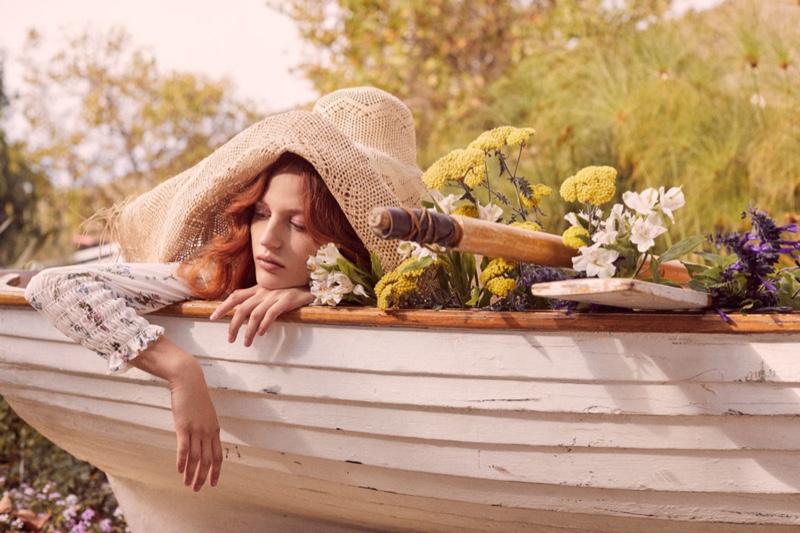 Julia Banas appears in For Love & Lemons spring 2019 lookbook
