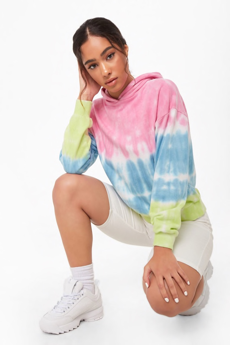 Forever 21 French Terry Tie-Dye Hoodie $24.90