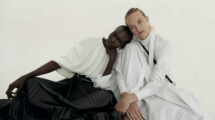 Alek Wek & Gemma Ward Join Forces for PORTER Edit