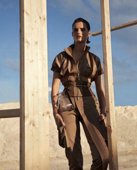 Giedre Dukauskaite Embraces Neutral Styles for Harper's Bazaar