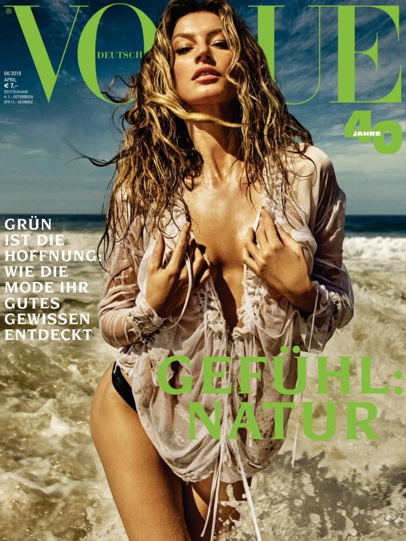 Gisele Bundchen on Vogue Germany April 2019 Cover