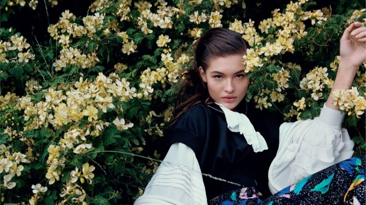 Grace Elizabeth is in Full Bloom for Vogue Russia