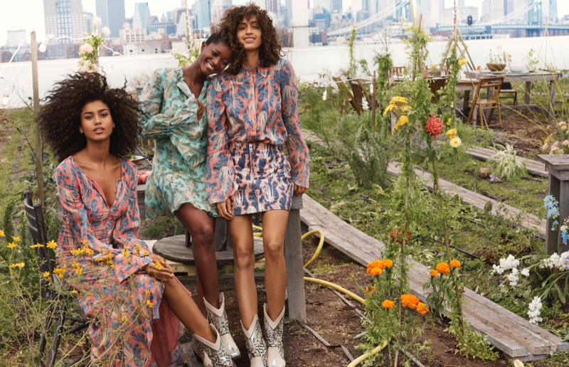Imaan Hammam, Oumie Jammeh and Alanna Arrington front H&M Conscious Exclusive 2019 campaign