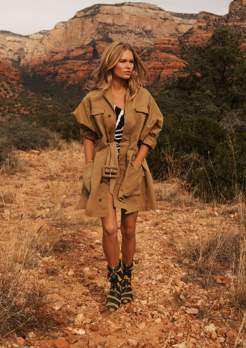 Anna Ewers models H&M Studio spring-summer 2019 collection