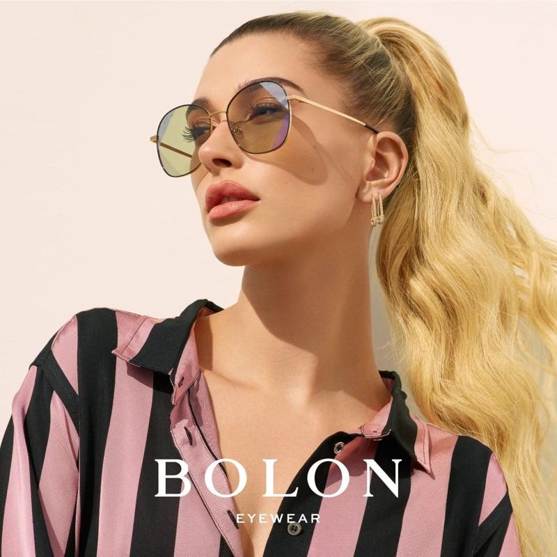 Hailey Baldwin gets her closeup in Beverly style from Bolon Eyewear