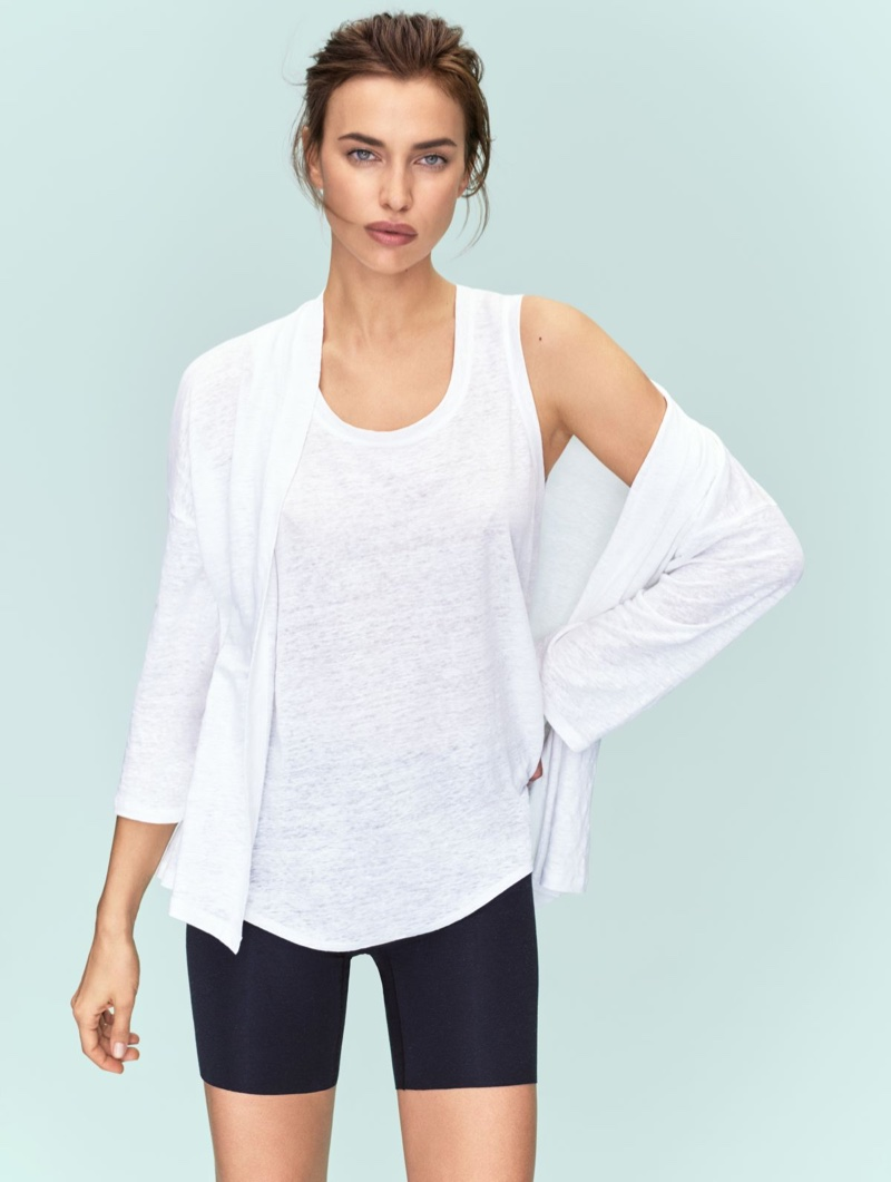 Keeping it casual, Irina Shayk fronts Intimissimi Silk Collection campaign