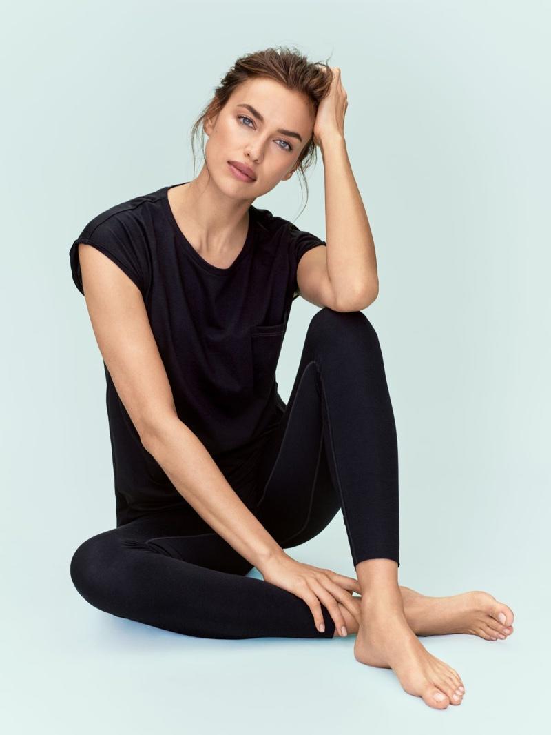 Irina Shayk models loungewear from Intimissimi silk collection