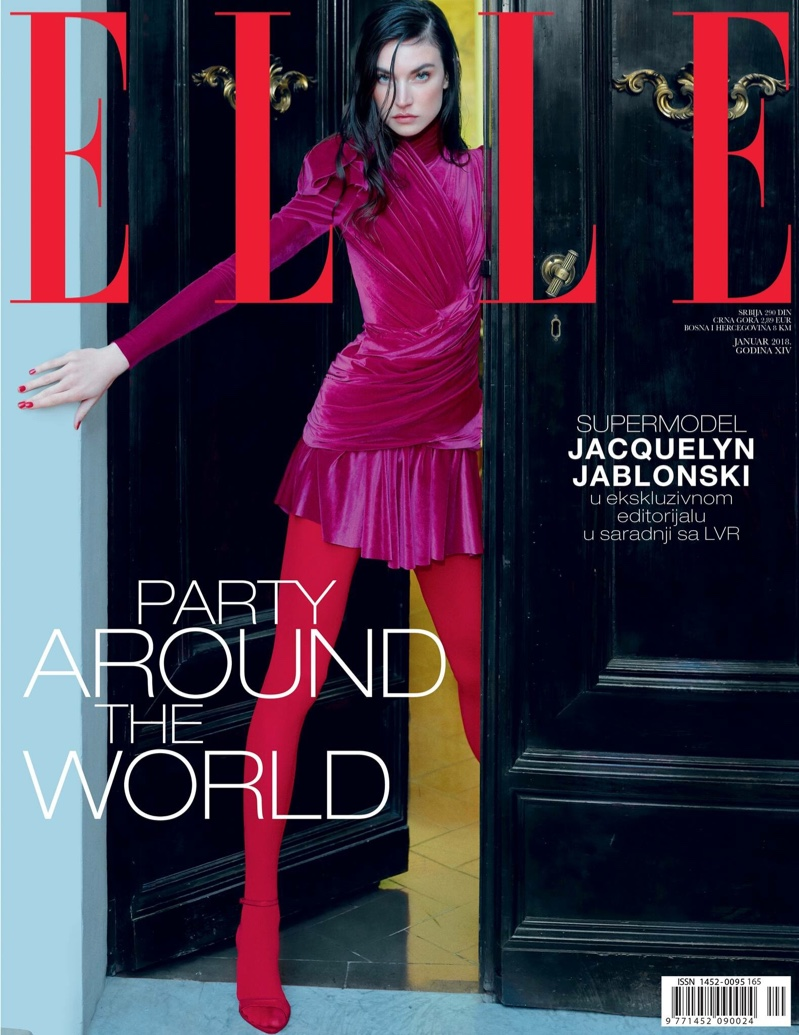 Jacquelyn Jablonski Poses in Sleek Styles for ELLE Serbia